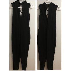 SEXY black bodycon bodysuit/jumpsuit